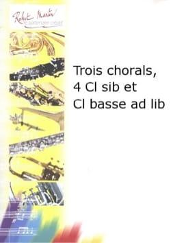 BACH - Drei Choräle - Klarinettenquartett - Partition - di-arezzo.de