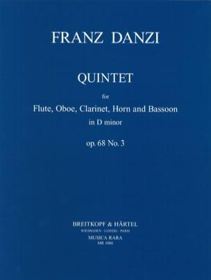 Quintet D minor op. 68 n° 3 -Parts Franz Danzi Partition laflutedepan
