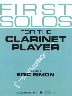 First Solos for the clarinet player Eric Simon Partition laflutedepan