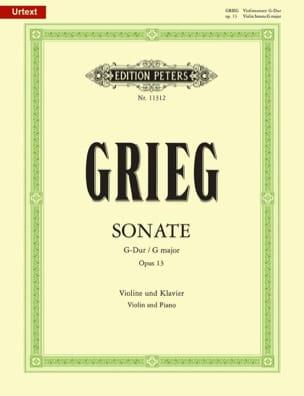 Sonate en Sol Majeur Opus 13 GRIEG Partition Violon - laflutedepan