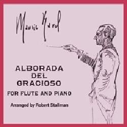 Alborada del Gracioso - Flûte et Piano RAVEL Partition laflutedepan