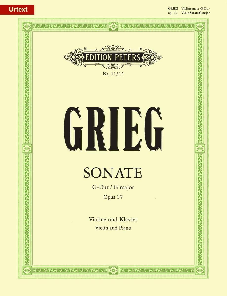 Sonate en Sol Majeur Opus 13 - GRIEG - Partition - laflutedepan.com