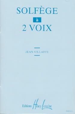 Solfège à 2 voix Jean Villatte Partition Solfèges - laflutedepan