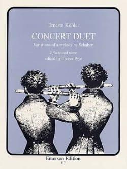 Concert Duet - 2 flûtes et piano Ernesto KÖHLER Partition laflutedepan