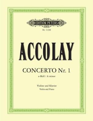 Concerto en la Mineur N°1 Jean-Baptiste ACCOLAY Partition laflutedepan