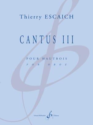 Cantus III - Hautbois Solo Thierry Escaich Partition laflutedepan