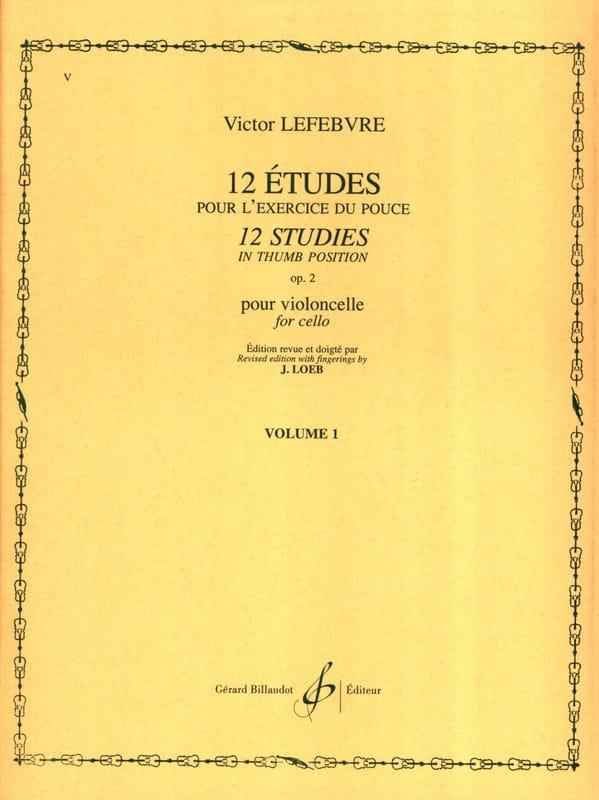 12 Etudes Op. 2 Volume 1 - Victor Lefebvre - laflutedepan.com
