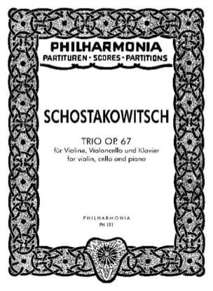 Trio op. 67 - Partitur CHOSTAKOVITCH Partition laflutedepan