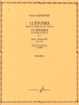 12 Etudes Op. 2 Volume 2 Victor Lefebvre Partition laflutedepan