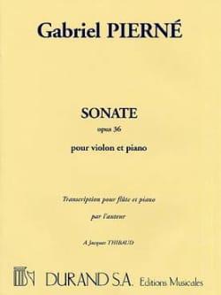 Sonate op. 36 PIERNE Partition Flûte traversière - laflutedepan