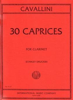30 Caprices For Clarinet Ernesto Cavallini Partition laflutedepan