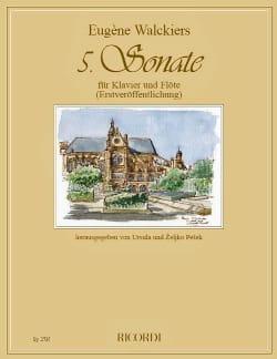 Sonate n° 5 - Flûte et piano Eugene Walckiers Partition laflutedepan