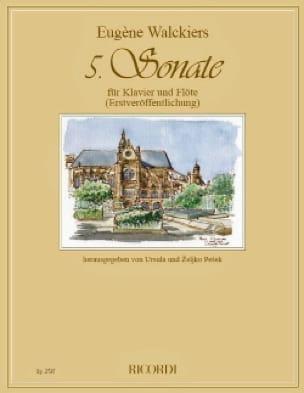 Sonate n° 5 - Flûte et piano - Eugene Walckiers - laflutedepan.com
