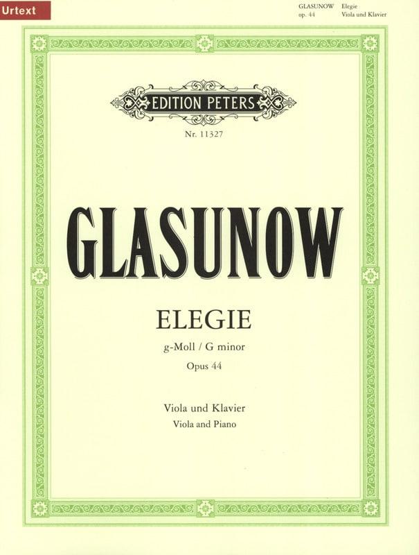 Elégie en Sol Mineur Opus 44 - Alexandre Glazounov - laflutedepan.com