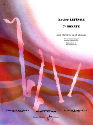 Sonate n° 7 pour clarinette Xavier Lefèvre Partition laflutedepan