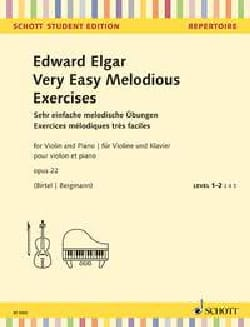 ELGAR - Very Easy Melodious Exercises, op. 22 - Violin and piano - Partition - di-arezzo.com