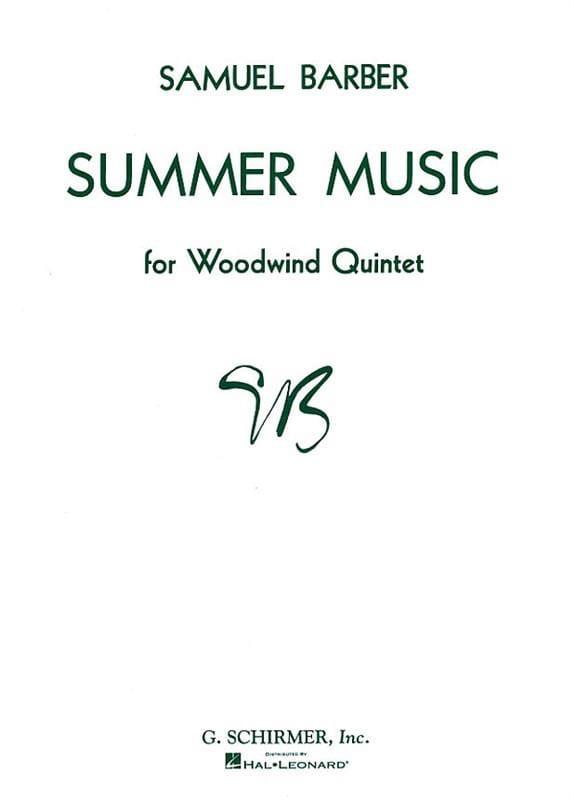 Summer Music op. 31 - Woodwind quintet - Score + Parts - laflutedepan.com