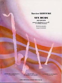 6 Duos Xavier Lefevre Partition Clarinette - laflutedepan