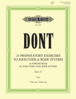 Etudes préparatoires op. 37 Sitt Jacob Dont Partition laflutedepan