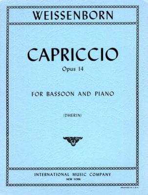 Capriccio Op 14 Julius Weissenborn Partition Basson - laflutedepan
