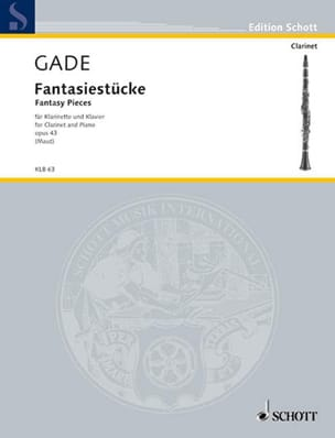 Fantasiestücke Op.43 Niels Wilhelm Gade Partition laflutedepan