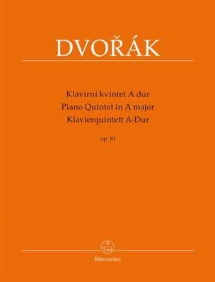 Quintette avec piano en la majeur, op. 81 DVORAK laflutedepan