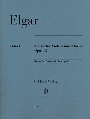 Sonate, opus 82 Edward Elgar Partition Violon - laflutedepan