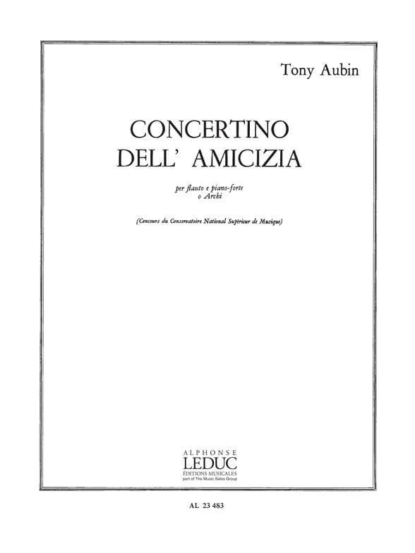 Concertino dell Amicizia - Tony Aubin - Partition - laflutedepan.com