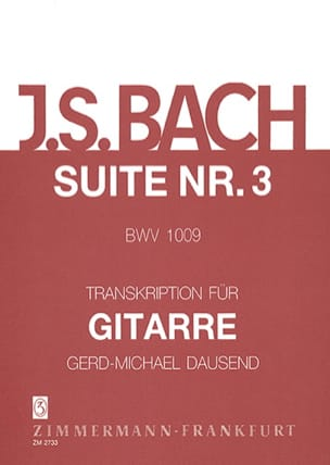 Sechs Suiten, Nr. 3 - BACH - Partition - laflutedepan.com