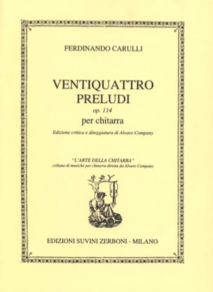 24 Préludes op. 114 Ferdinando Carulli Partition laflutedepan