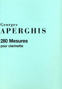 280 Mesures Georges Aperghis Partition Clarinette - laflutedepan