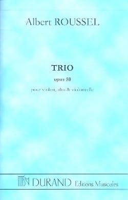 Trio op. 58 - Conducteur ROUSSEL Partition Grand format - laflutedepan