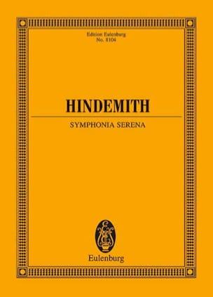 Symphonia Serena - HINDEMITH - Partition - laflutedepan.com