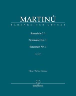 Sérénade n° 1 H 217 - Parties MARTINU Partition laflutedepan