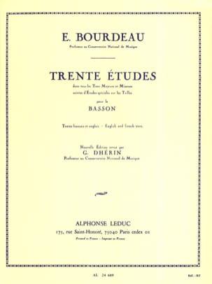 30 Etudes Eugène Bourdeau Partition Basson - laflutedepan
