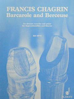 Barcarole and Berceuse - Francis Chagrin - laflutedepan.com