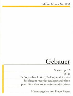 Sonate op. 17 1812 -Sopranblockflöte Klavier laflutedepan