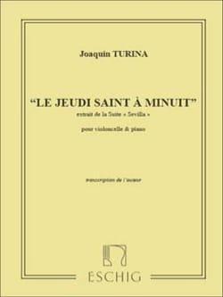 Le Jeudi Saint à Minuit - Violoncelle piano TURINA laflutedepan