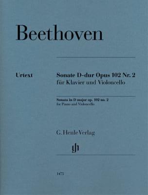 Ludwig van Beethoven - Sonate, opus 102 n° 2 - Partition - di-arezzo.fr