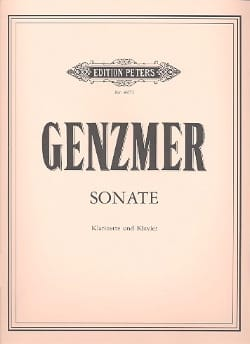 Sonate - Klarinette Klavier - Harald Genzmer - laflutedepan.com