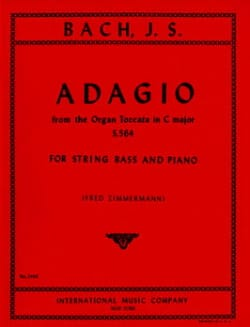 Adagio, Organ Toccata in C maj. BWV 564 - String bass laflutedepan