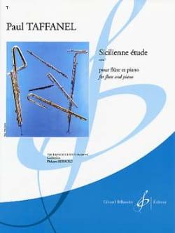 Sicilienne étude op. 7 Paul Taffanel Partition laflutedepan