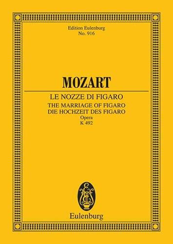 Die Hochzeit des Figaro - Partitur - MOZART - laflutedepan.com