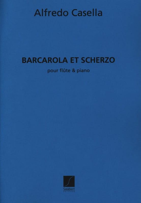 Barcarola et Scherzo - Alfredo Casella - Partition - laflutedepan.com