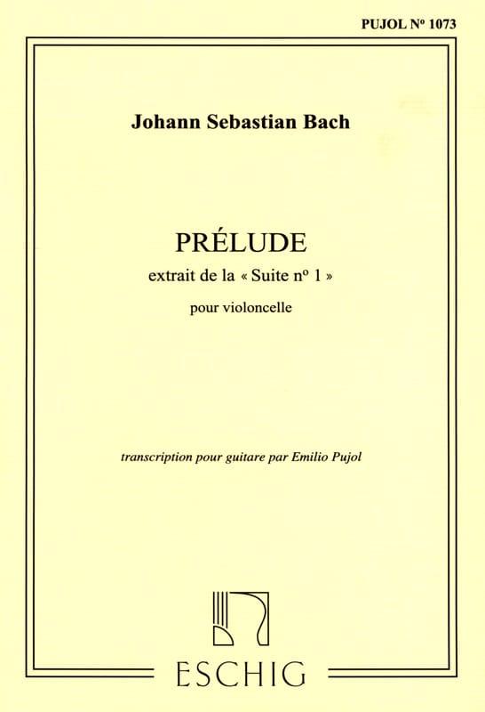 Prélude - Guitare - BACH - Partition - Guitare - laflutedepan.com
