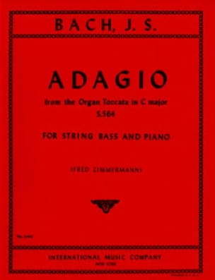 Adagio, Organ Toccata in C maj. BWV 564 - String bass - laflutedepan.com