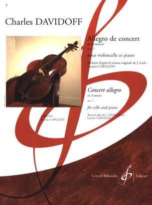 Allegro de Concert op. 11 Charles Davidoff Partition laflutedepan