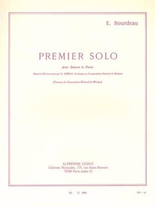 Premier solo pour basson et piano Eugène Bourdeau laflutedepan