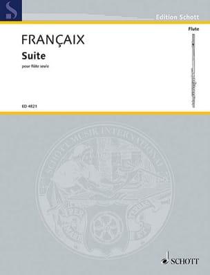 Suite - Flûte seule FRANÇAIX Partition laflutedepan