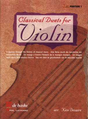 Classical Duets for Violin Nico Dezaire Partition laflutedepan